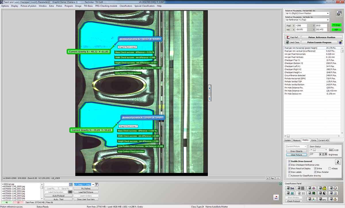 Beschichtungsprüfung - Graphitschicht auf Kolben