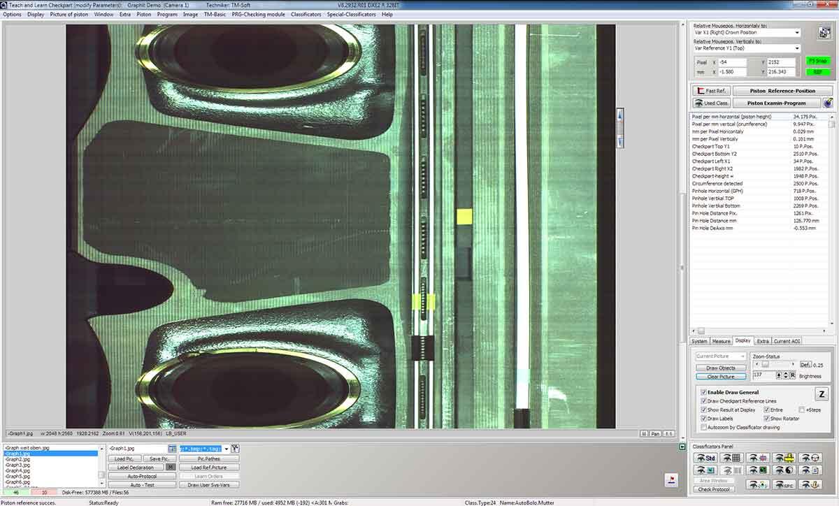 Beschichtungsprüfung - Graphitschicht auf Kolben (fehlerbehaftet)