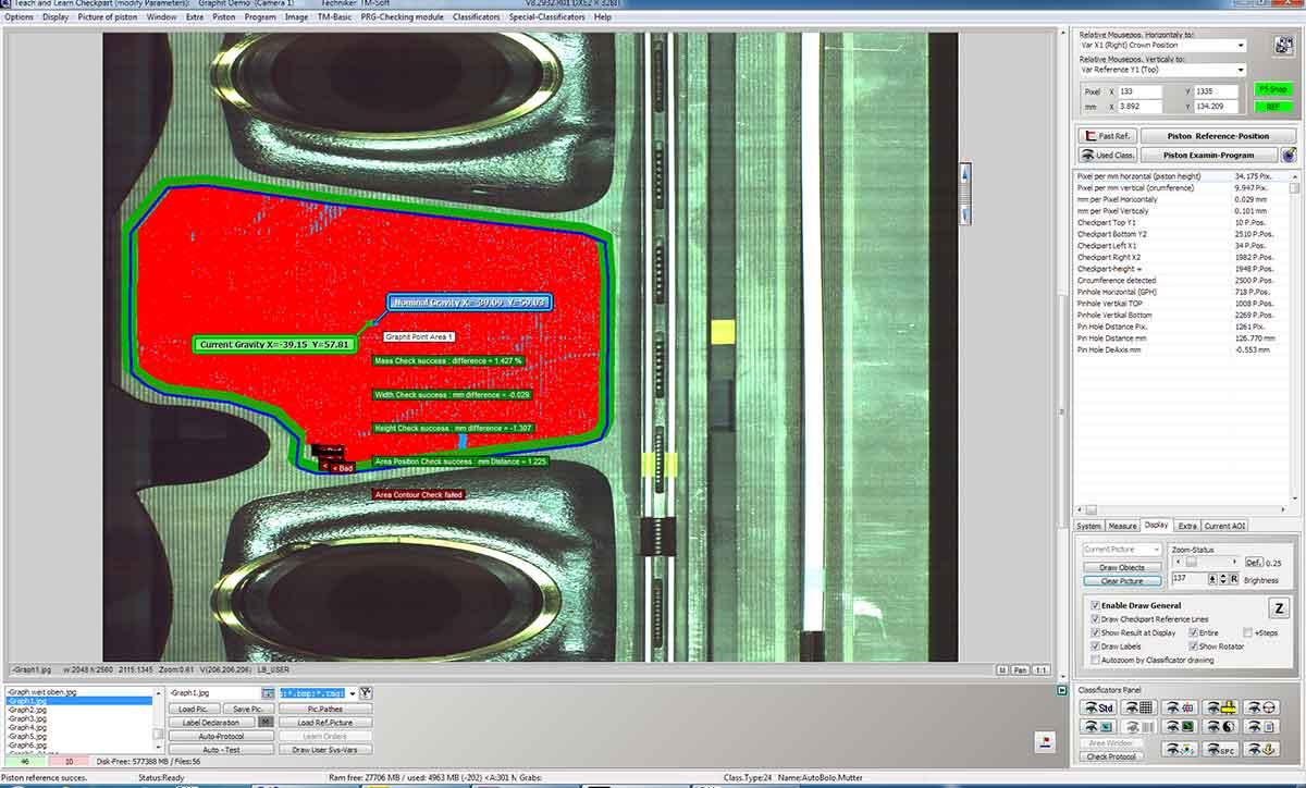 Beschichtungsprüfung - Graphikschicht auf Kolben (fehlerbehaftet)